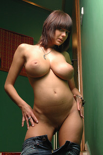 Big tits and rounded ass naked-15