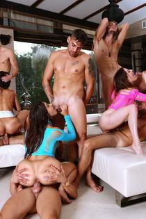 Samia Duarte Valentina Nappi Samantha Bentley In Big Group Sex-11