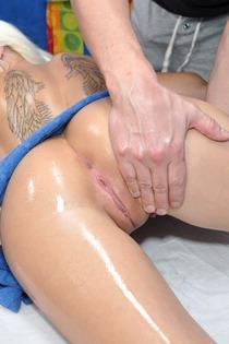 Sexy Blonde Tattooed Slut Gets Oiled Fucked-06