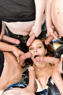 Dirty Young Bitch And Six Hard Cocks-03