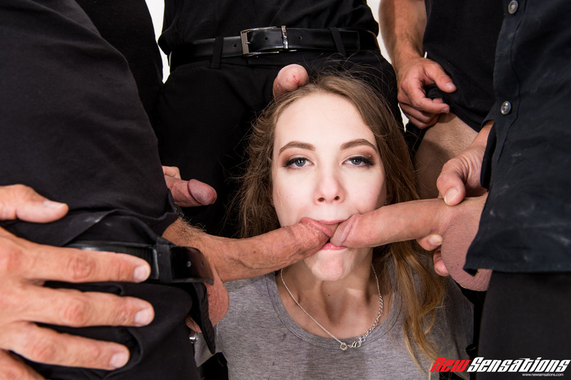 Dirty Girl Samantha Hayes In Oral Gangbang Party 7