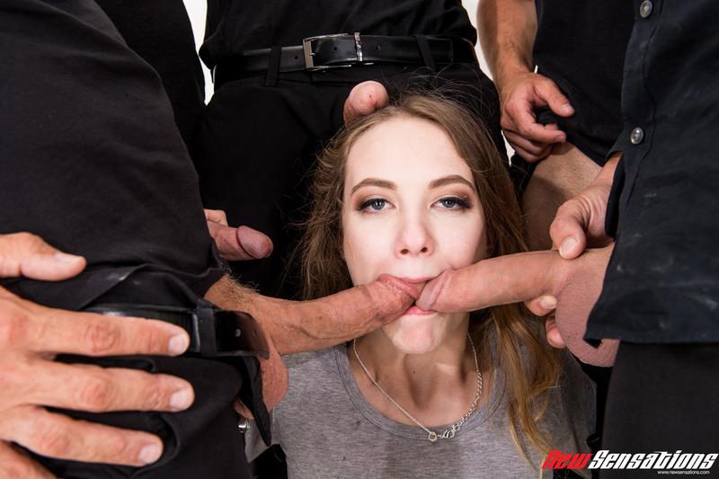 Dirty Girl Samantha Hayes In Oral Gangbang Party 7