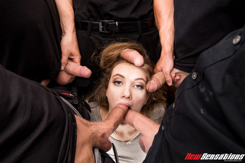 Dirty Girl Samantha Hayes In Oral Gangbang Party 11
