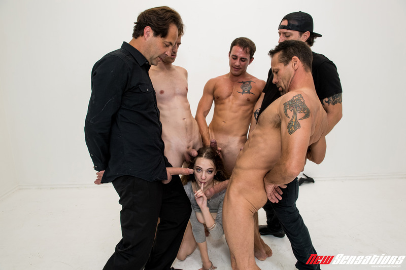 Dirty Girl Samantha Hayes In Oral Gangbang Party 14