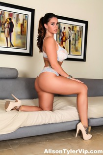 Alison Tyler In Her White Bra And Panties-00