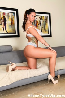 Alison Tyler In Her White Bra And Panties-07