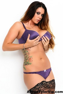 Alison Tyler In Sexy Purple Silk-10