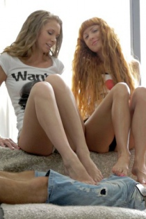 Very Cute And Sexy Euro Girls Kail And Janette-00