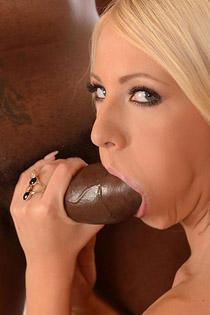 Blonde Fucks A Big Black Dick