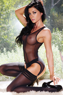 Sex Dark Haired Playmate