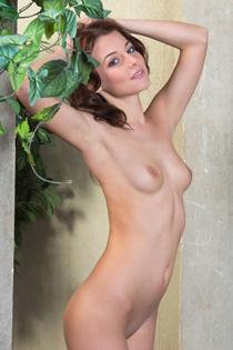 Nikia Posing Naked Outdoor