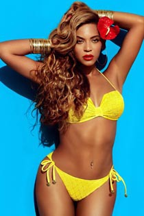 Beyonce Knowles Showing Off Her Curvy Bikini Body For Beat And H&M Magazines
