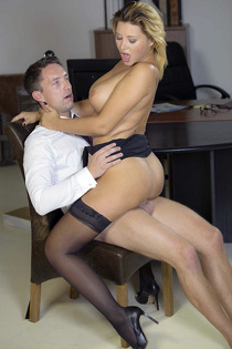 Busty Secretary Anna Polina Gets Fucked In The Office