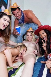College Group Sex With Amateur Hotties