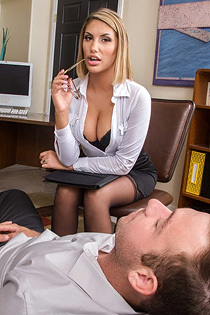 August Ames Naughty Secretary