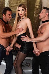 Karina Grand - Two Dicks Action