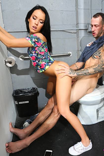 Megan Rain Blows Through A Gloryhole