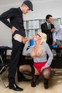 Naughty Secretary Christina Shine Fucks With Her Boss