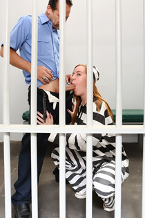 Sexy Redhead Prisonre Kierra Wilde Gets Nailed