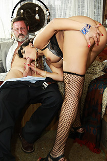 Mercedes Carrera Fucks With An Old Man